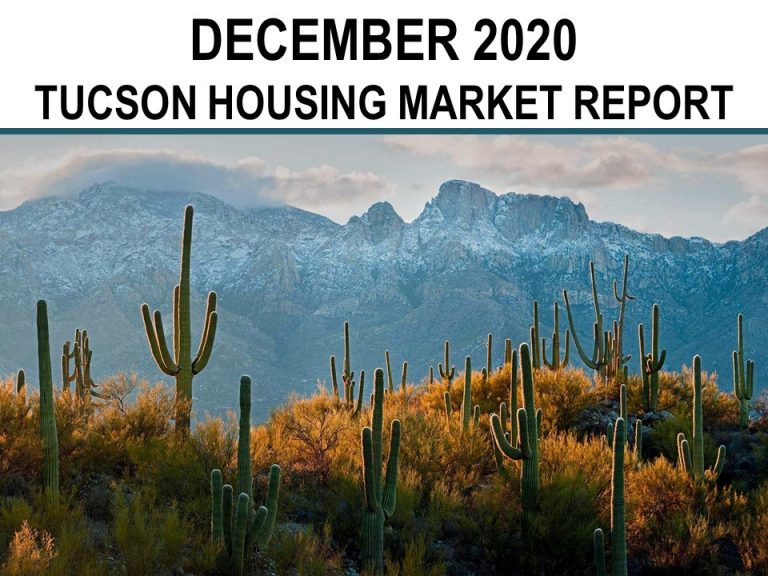 Tucson Real Estate Housing Market – December 2020