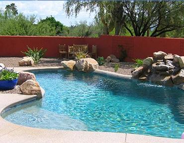 Tucson backyard swimming pool